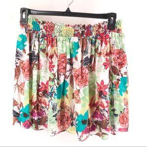 Alice & Olivia Floral Silk Mini Skirt